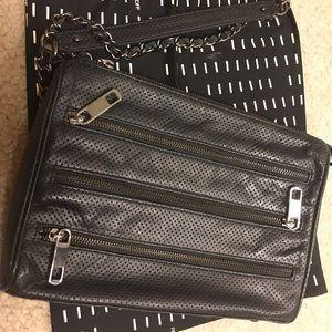Handbags - Rebecca Minkoff 5 zip crossbody black leather